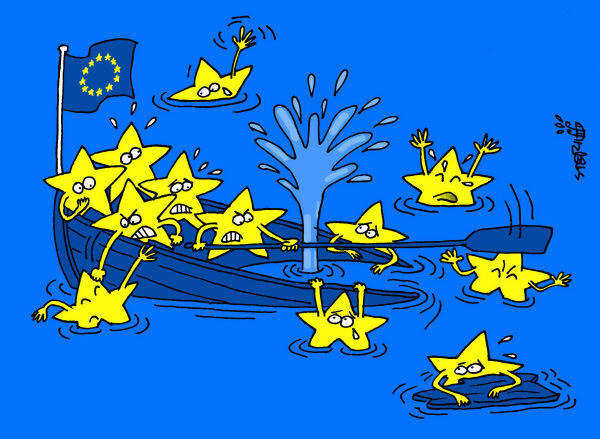 Untergang der EU ist vorprogrammiert. The fall of the EU is inevitable.