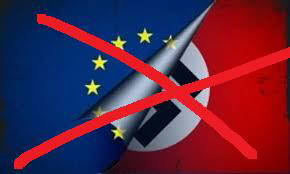 Die EU ist das Vierte Reich, das Dirtte Reich mit anderen Mitteln. The EU is the fourth reich, the third reich with different means.