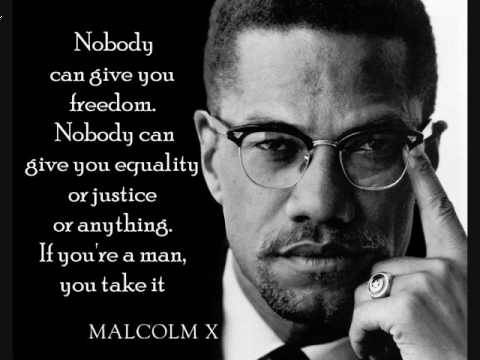 nobody can give you freedom. if you're a man you take it. malcolm x