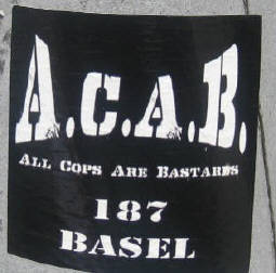 ACAB ALL COPS ARE BASTARDS 187 BASEL
