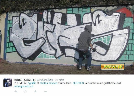 TIMELINE graffiti magazine now shows brand-new and exclusive zurich graffiti photos as a preview on it twitter account @zurichgraffiti