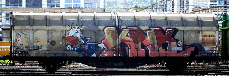 donald duck box-car graffiti zuerich switzerland