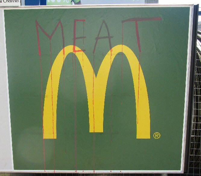 meat is murder mcdonalds