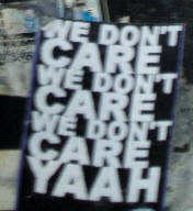 we don't care yaah streetart sticker zurich switzerland