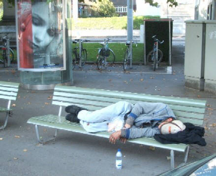 down and out in zurich, switzerland